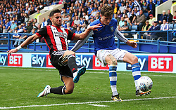George Baldock of Sheffield United tackles Adam Reach of Sheffield Wednesday - Mandatory by-line:  Matt McNulty/JMP - 24/09/2017 - FOOTBALL - Hillsborough - Sheffield, England - Sheffield Wednesday v Sheffield United - Sky Bet Championship