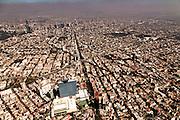 Aerial view of urban sprawl and smog November 6, 2013 in Mexico City, Mexico
