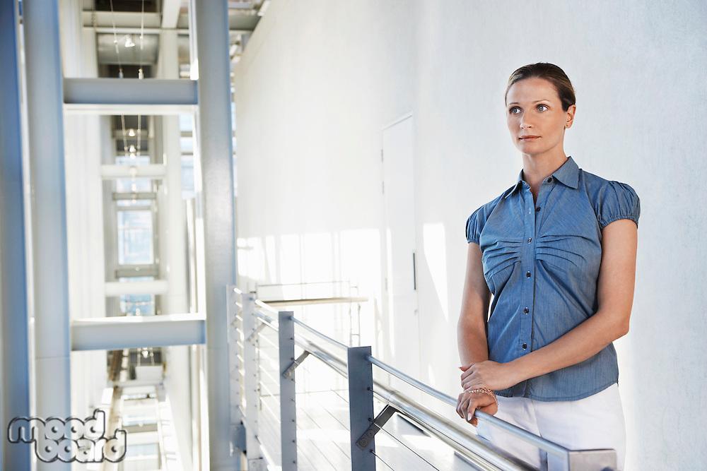 Businesswoman in modern building