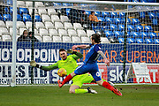 Peterborough United striker Jack Marriott (14) with a chance during the EFL Sky Bet League 1 match between Peterborough United and Southend United at London Road, Peterborough, England on 3 February 2018. Picture by Nigel Cole.