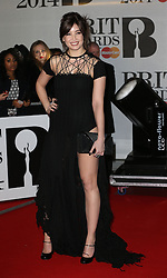 Daisy Lowe arriving at the BRIT Awards in London, Wednesday, 19th February 2014. Picture by Stephen Lock / i-Images