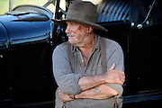 Actor Bill McClusky (playing Bogle) on the set of 'Blood In The Sand' - Beverley Western Australia