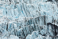 Ice striations in Surprise Glacier in Prince William Sound in Southcentral Alaska. Summer. Afternoon.