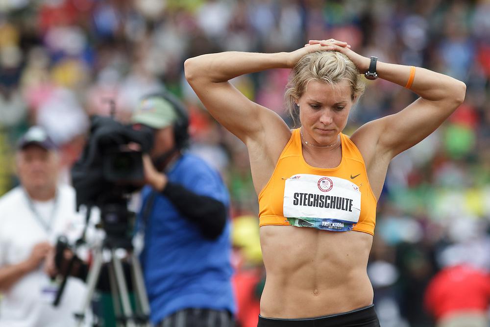 Olympic Trials Eugene 2012: Heptathlon, Javelin, Stechschulte
