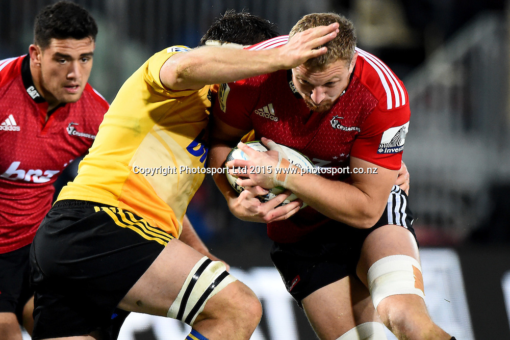 Crusaders player Dominic Bird during their Investec Super Rugby game Crusaders v Hurricanes. Trafalgar Park, Nelson, New Zealand. Friday 29 May 2015. Copyright Photo: Chris Symes / www.photosport.co.nz