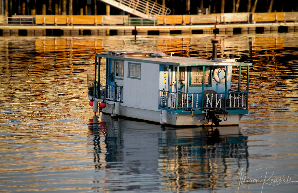 Houseboat, Monterey (tilt-shift)