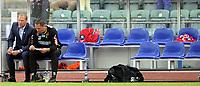 Fotball<br /> 28.05.2012<br /> Tippeligaen<br /> Stabæk v Lillestrøm 4:1<br /> Foto: Morten Olsen, Digitalsport<br /> <br /> Magnus Haglund (L) og Magnus Powell - trener og assistenttrener LSK