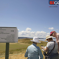 """The massive, sprawling and, as many spectators said, fan unfriendly course made GPS a must! Photographed for Sports Illustrated's US Open photo essay """"Behind The Open Curtain: Plotting the Course."""" 4 of 8"""