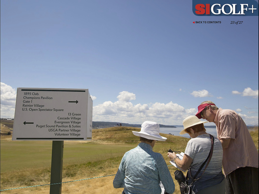 "The massive, sprawling and, as many spectators said, fan unfriendly course made GPS a must! Photographed for Sports Illustrated's US Open photo essay ""Behind The Open Curtain: Plotting the Course."" 4 of 8"