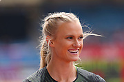 Katie Nageotte (USA), Women's Pole Vault during the Muller Grand Prix at Alexander Stadium, Birmingham, United Kingdom on 18 August 2018. Picture by Ian Stephen.