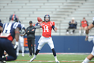 Bo Wallace (14) at Mississippi's Grove Bowl controlled scrimmage at Vaught-Hemingway Stadium in Oxford, Miss. on Saturday, April 5, 2014.