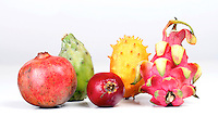 Composition of exotic fruits - studio shot