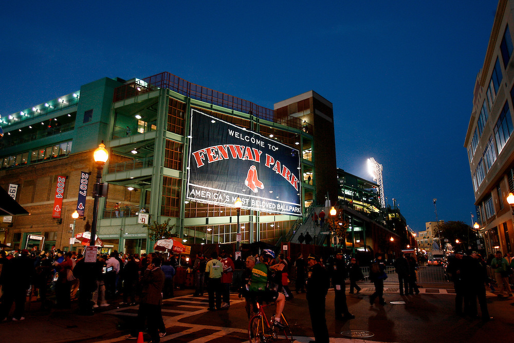 BOSTON - OCTOBER 25: A general view of the exterior of Fenway Park before a game between the Boston Red Sox and he Colorado Rockies during Game Two of the 2007 Major League Baseball World Series at Fenway Park on October 25, 2007 in Boston, Massachusetts.