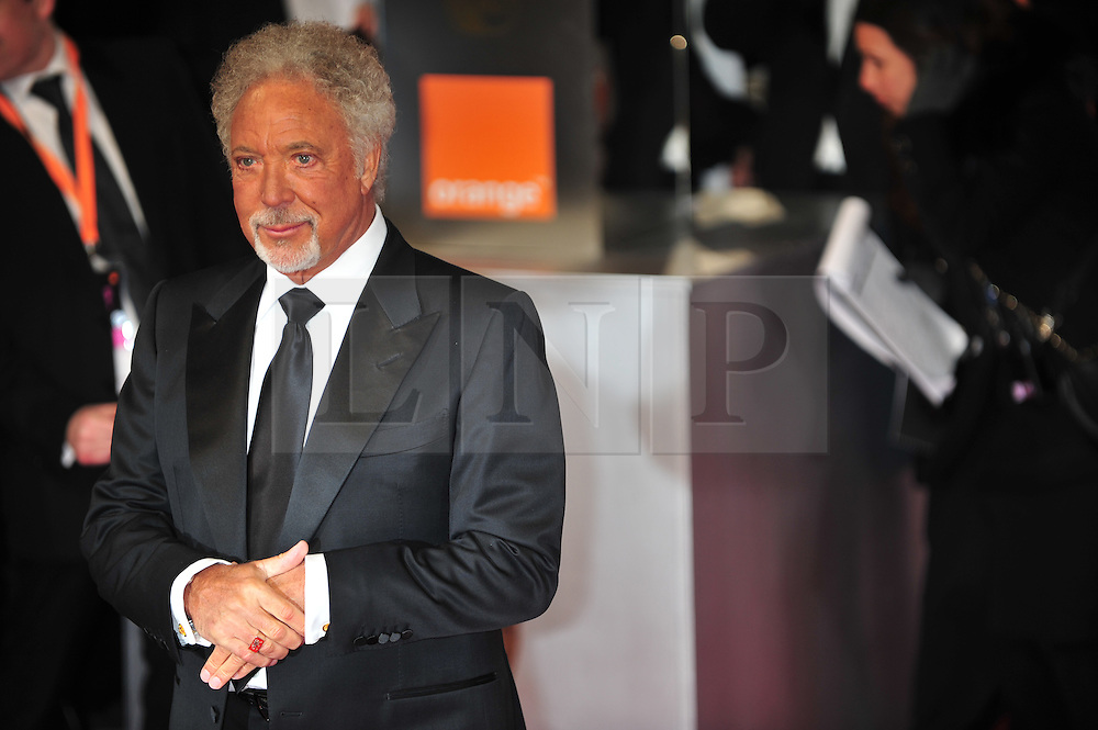 © Licensed to London News Pictures. 12/02/2012. London, England.Sir Tom Jones arrives for the Orange British Academy Film Awards at The Royal Opera House on February 12, 2012 in London, England. Photo credit : ALAN ROXBOROUGH/LNP