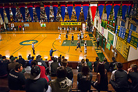 The Placer Hillman host the Liberty Ranch Hawks Varsity basketball team in the DIV NorCal boys quarterfinal, inside the Earl Crabe Gym with is 80 years old, Saturday Mar 10, 2018.  <br /> photo by Brian Baer