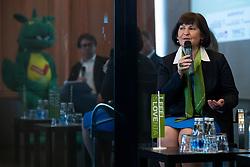 Eva Stravs Podlogar at Press conference for collaboration between Slovenian tourist organisation I feel Slovenia and NBA basketball club Dallas Mavericks, 16 January, 2020, Ljubljana, Slovenia. Photo By Grega Valancic / Sportida