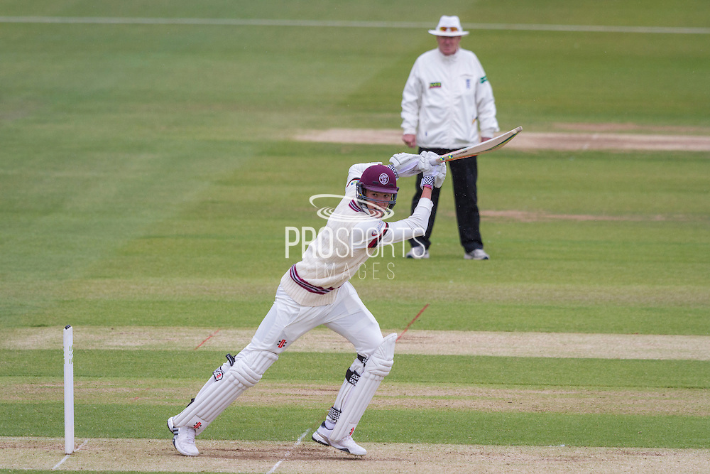 Craig Overton(Somerset County Cricket Club) in action during the LV County Championship Div 1 match between Durham County Cricket Club and Somerset County Cricket Club at the Emirates Durham ICG Ground, Chester-le-Street, United Kingdom on 8 June 2015. Photo by George Ledger.