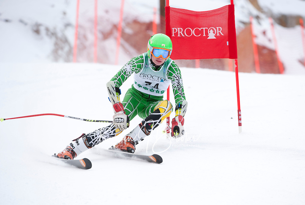 Proctor/Blackwater Tecnica Cup alpine giant slalom ski race January 14, 2012.