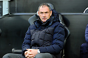Reading manager Paul Clement during the EFL Sky Bet Championship match between Swansea City and Reading at the Liberty Stadium, Swansea, Wales on 27 October 2018.