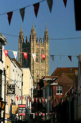 UK ENGLAND CANTERBURY 15OCT05 - Cantrerbury Cathedral seen from St. Margaret's in the town centre...jre/Photo by Jiri Rezac..© Jiri Rezac 2005.Contact: +44 (0) 7050 110 417.Mobile: +44 (0) 7801 337 683.Office: +44 (0) 20 8968 9635..Email: jiri@jirirezac.com.Web: www.jirirezac.com..© All images Jiri Rezac 2005 - All rights reserved.