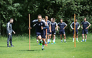 Dundee&rsquo;s Tom Hateley during the warm up - Dundee FC pre-season training at Michelin Grounds, Dundee, Photo: David Young<br /> <br />  - &copy; David Young - www.davidyoungphoto.co.uk - email: davidyoungphoto@gmail.com
