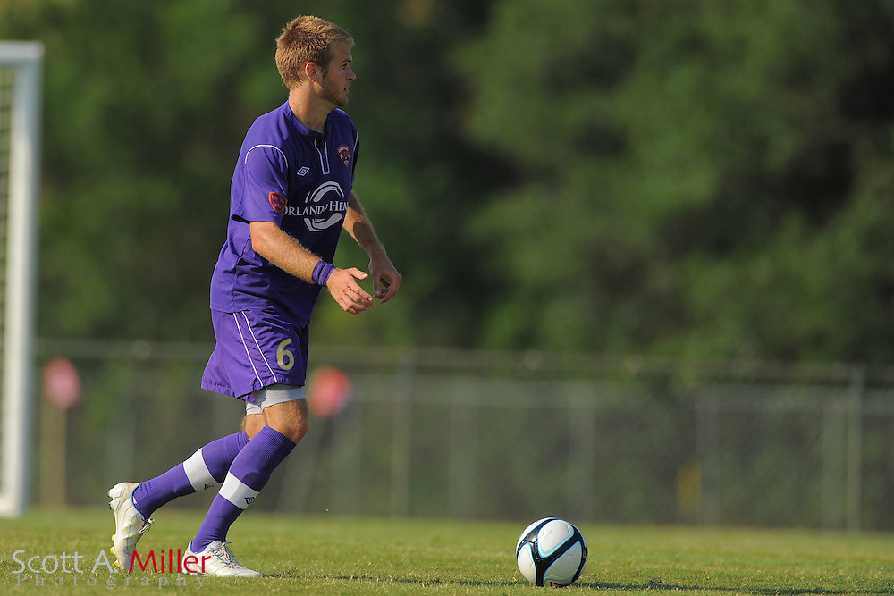 Orlando City U23s midfielder Will Frandsen (6) in action during Orlando's game against the Ocala Stampede at the Seminole Soccer Complex Saturday on May 26, 2012 in Sanford, Fla. ...©2012 Scott A. Miller..
