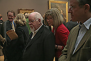 Sir Peter and Lady Blake, Hogarth private view and dinner. Tate Britain. London. 5 February 2007.  -DO NOT ARCHIVE-© Copyright Photograph by Dafydd Jones. 248 Clapham Rd. London SW9 0PZ. Tel 0207 820 0771. www.dafjones.com.