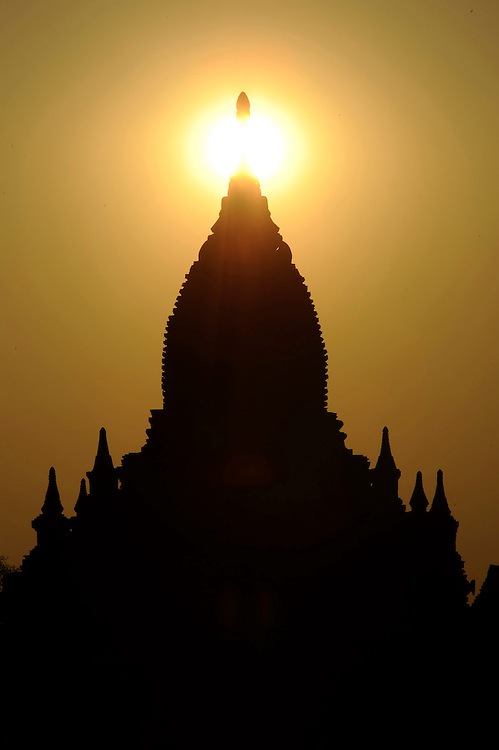 Temple in Bagan Myanmar sunset