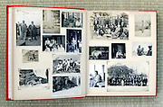 open page of an old family photo album Japan Asia 1930s through 1960s