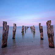 Remains of an old jetty at Clifton Springs, Victoria, Australia