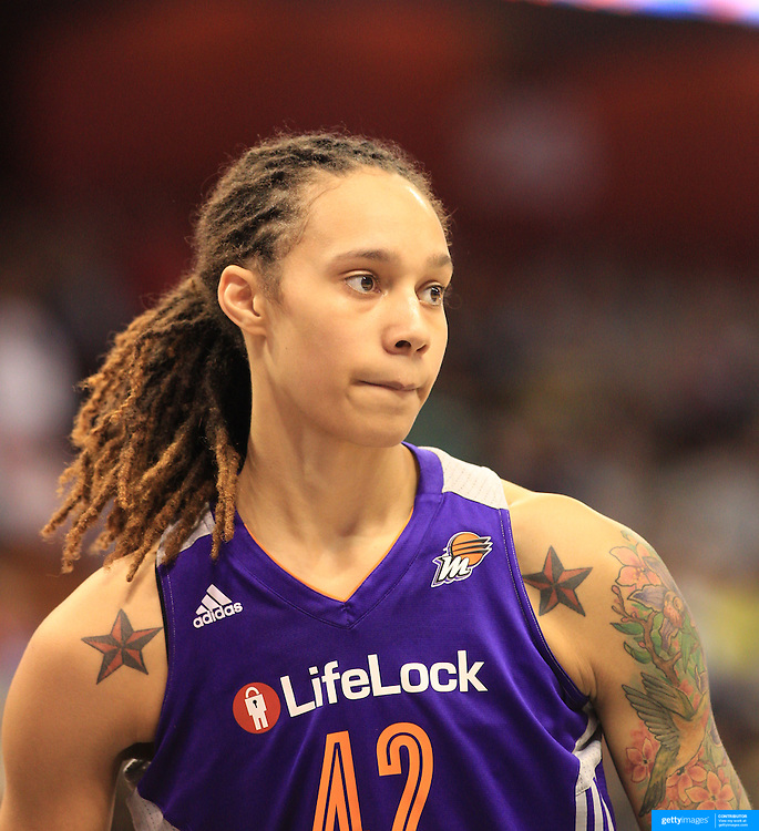 Brittney Griner, Phoenix Mercury, during the Connecticut Sun V Phoenix Mercury, WNBA regular season game at Mohegan Sun Arena, Uncasville, Connecticut, USA. 29th June 2013. Photo Tim Clayton