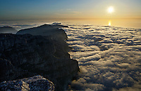 View of Twelve Apostles from Table Mountain, Table Mountain National Park, Cape Town, Cape Province, Cape Peninsula, South Africa.