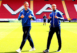 Adam Smith and Sam Slocombe of Bristol Rovers arrive at The Valley for the opening day of the Sky Bet League One 2017/18 Season - Mandatory by-line: Robbie Stephenson/JMP - 05/08/2017 - FOOTBALL - The Valley - Charlton, London, England - Charlton Athletic v Bristol Rovers - Sky Bet League One