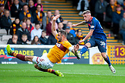 Callumn Morrison(#38) of Heart of Midlothian shoots for goal during the Ladbrokes Scottish Premiership match between Motherwell and Heart of Midlothian at Fir Park, Motherwell, Scotland on 15 September 2018.
