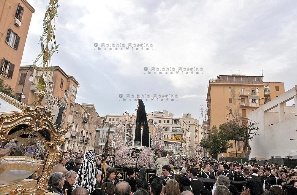 Celebrazione dei riti pasquali nel quartiere Albergheria del centro storico di Palermo.<br />