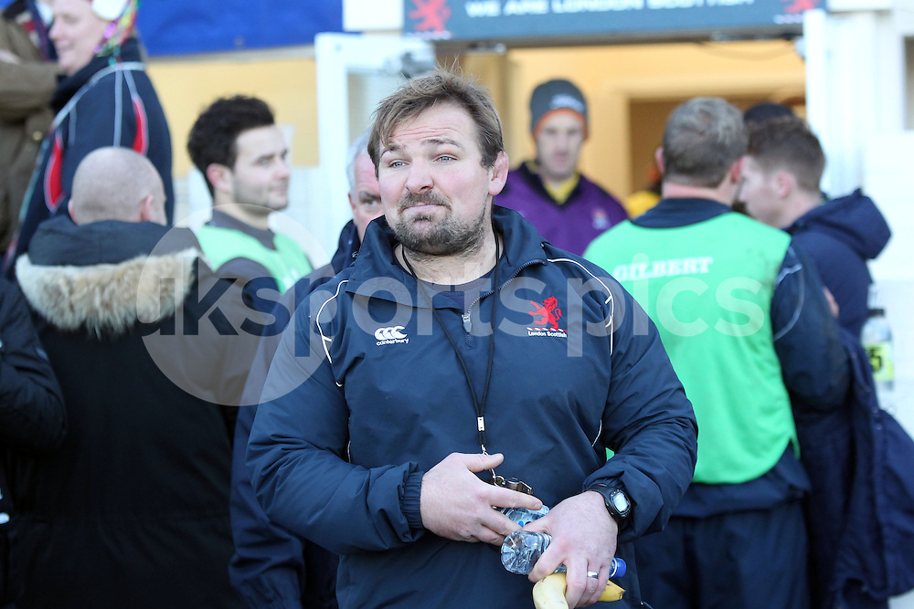 Coach James Buckland during the B&amp;I Cup match between London Scottish &amp; Pontypridd at Richmond, Greater London on 13th December 2014<br /> <br /> Photo: Ken Sparks | UK Sports Pics Ltd<br /> London Scottish v Pontypridd, B&amp;I Cup, 13th December 2014<br /> <br /> &copy; UK Sports Pics Ltd. FA Accredited. Football League Licence No:  FL14/15/P5700.Football Conference Licence No: PCONF 051/14 Tel +44(0)7968 045353. email ken@uksportspics.co.uk, 7 Leslie Park Road, East Croydon, Surrey CR0 6TN. Credit UK Sports Pics Ltd