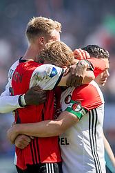 14-05-2017 NED: Kampioenswedstrijd Feyenoord - Heracles Almelo, Rotterdam<br /> In een uitverkochte Kuip pakt Feyenoord met een 3-0 overwinning het landskampioenschap / Dirk Kuyt #7, Nicolai Jorgensen #9