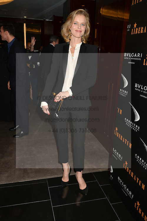EVA HERZIGOVA at a dinner hosted by Liberatum to honour Francis Ford Coppola held at the Bulgari Hotel & Residences, 171 Knightsbridge, London on 17th November 2014.