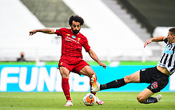 LIVERPOOL, ENGLAND - Sunday, July 26, 2020: Liverpool's Mohamed Salah during the final match of the FA Premier League season between Newcastle United FC and Liverpool FC at St. James' Park. The game was played behind closed doors due to the UK government's social distancing laws during the Coronavirus COVID-19 Pandemic. Liverpool won 3-1 and finished the season as Champions on 99 points. (Pic by Propaganda)