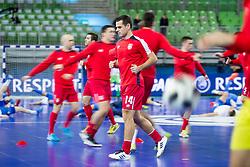 Slobodan Rajcevic of Serbia before futsal quarter-final match between National teams of Kazakhstan and Serbia at Day 7 of UEFA Futsal EURO 2018, on February 5, 2018 in Arena Stozice, Ljubljana, Slovenia. Photo by Urban Urbanc / Sportida