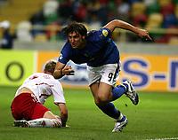 Fotball<br /> EM U21<br /> 24.05.2006<br /> Italia v Danmark<br /> Foto: Imago/Digitalsport<br /> NORWAY ONLY<br /> <br /> Rolando Bianchi (Italien U21)