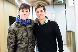 Dominic Thiem and Aljaz Bedene of Slovenia after the friendly football match between NK Fantazisti (SLO) and 1st TFC - First Tennis & Football Club (AUT) presented by professional and former tennis players, on November 25, 2017 in Nacionalni nogometni center Brdo pri Kranju, Slovenia. Photo by Vid Ponikvar / Sportida