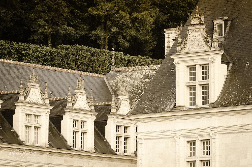 Evening light on the Chateau de Villandry, Villandry, Loire Valley, France