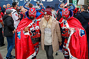texan support team photo with fans during the International Series match between Jacksonville Jaguars and Houston Texans at Wembley Stadium, London, England on 3 November 2019.