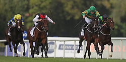 Landfall ridden by Shane Foley (second right) wins The Willis Towers Watson Champions Juvenile Stakes during day one of the Longines Irish Champions Weekend at Leopardstown Races.