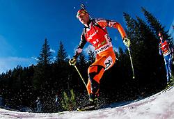 OTCENAS Martin (SVK) competes during Men 12,5 km Pursuit at day 3 of IBU Biathlon World Cup 2014/2015 Pokljuka, on December 20, 2014 in Rudno polje, Pokljuka, Slovenia. Photo by Vid Ponikvar / Sportida