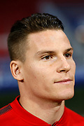 Atletico Madrid's French forward Kevin Gameiro reacts during the Spanish championship Liga football match between Atletico Madrid and Real Madrid on November 18, 2017 at the Wanda Metropolitano in Madrid, Spain - Photo Benjamin Cremel / ProSportsImages / DPPI