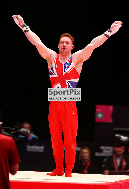 2015 Artistic Gymnastics World Championships being held in Glasgow from 23rd October to 1st November 2015...Daniel Purves (Great Britain) competing in the Still Rings competition..(c) STEPHEN LAWSON | SportPix.org.uk