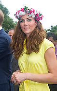 "CATHERINE, DUCHESS OF CAMBRIDGE AND PRINCE WILLIAM.visited replicas of cultural villagers that represented the nine districts of the Solomon Islands on the second day of their 3-day visit to the Solomon Islands..On departure she was presented with a head-garland consisting of frangipani and orchids, Honiara_17/09/2012.Mandatory credit photo: ©Dias/DIASIMAGES..(Failure to credit will incur a surcharge of 100% of reproduction fees)..                **ALL FEES PAYABLE TO: ""NEWSPIX INTERNATIONAL""**..IMMEDIATE CONFIRMATION OF USAGE REQUIRED:.DiasImages, 31a Chinnery Hill, Bishop's Stortford, ENGLAND CM23 3PS.Tel:+441279 324672  ; Fax: +441279656877.Mobile:  07775681153.e-mail: info@newspixinternational.co.uk"