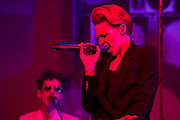 La Roux plays the John Peel Tent. The 2015 Glastonbury Festival, Worthy Farm, Glastonbury.